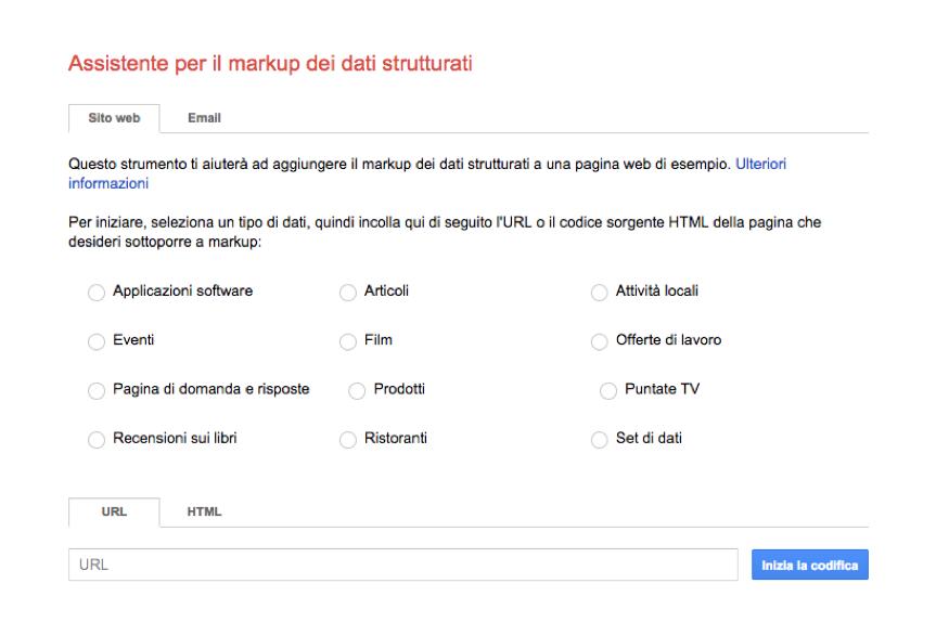 Assistente Dati Strutturati Google