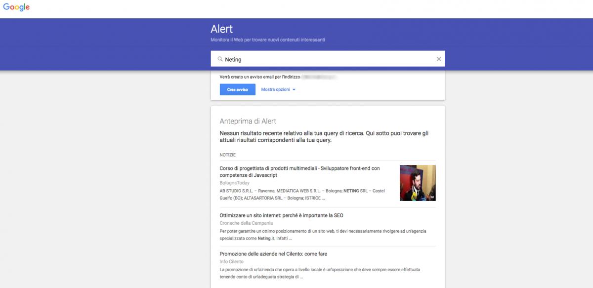 Google Alert Mention