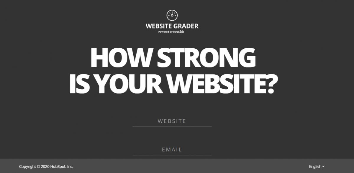 Hubspot Website Grader lead generation